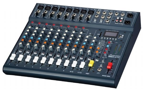 Studiomaster Club XS12 Compact Analog Mixer with Bluetooth inc FX - CLUBXS12
